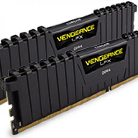 海盗船 复仇者 LPX CMK16GX4M2A2400C16 16GB (2x8GB) DDR4 Black 内存
