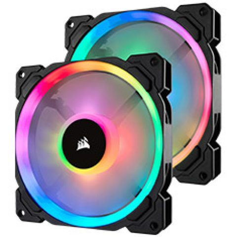 海盗船 LL140 RGB 140mm Fans 2 Pack with Lighting Node Pro  风扇套装