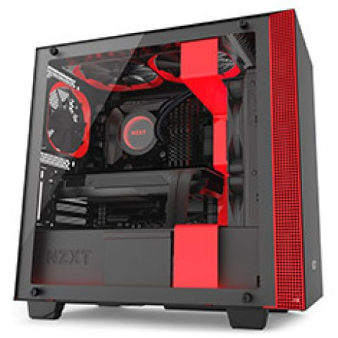 NZXT H410i Smart Case Black and Red 机箱