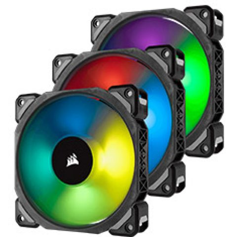 海盗船 ML120 PRO RGB 120mm PWM Fan 3 Pack with Node Pro  风扇套装