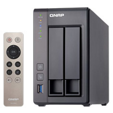 QNAP TS-251+ 2 Bay NAS with 2GB RAM NAS 个人云 私有云