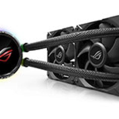 华硕 ROG Ryuo 240 OLED AIO CPU Cooler 一体水冷散热器