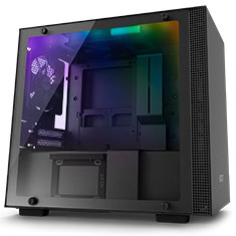NZXT H210i Smart Mini-ITX Case Black/Black 机箱