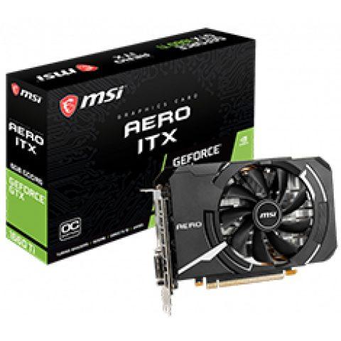 微星 GeForce GTX 1660 Ti Aero ITX 6G OC 游戏显卡