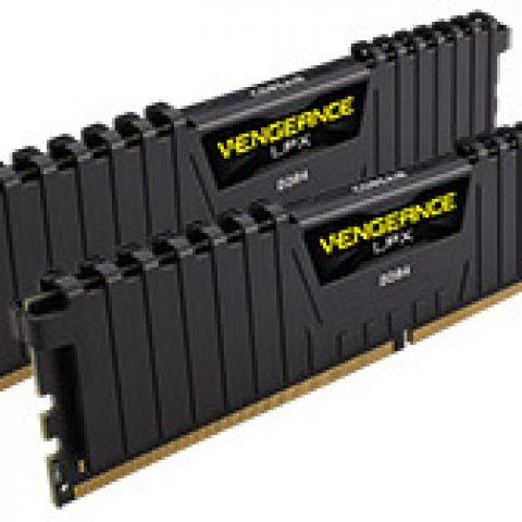 海盗船 复仇者 LPX CMK16GX4M2B3200C16 16GB (2x8GB) DDR4 Black 内存