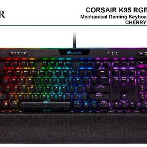 海盗船 Gaming K95 RGB Platinum Gunmetal 键盘 MX Speed