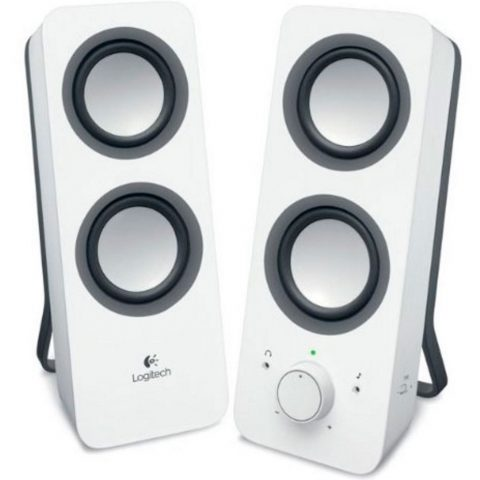 Logitech Z200 Multimedia Speakers Snow White 音箱 音响 扬声器