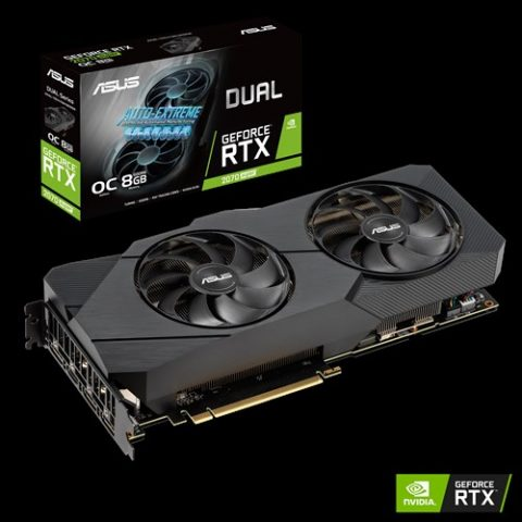 华硕 GeForce RTX 2070 Super Dual OC EVO 8GB 游戏显卡