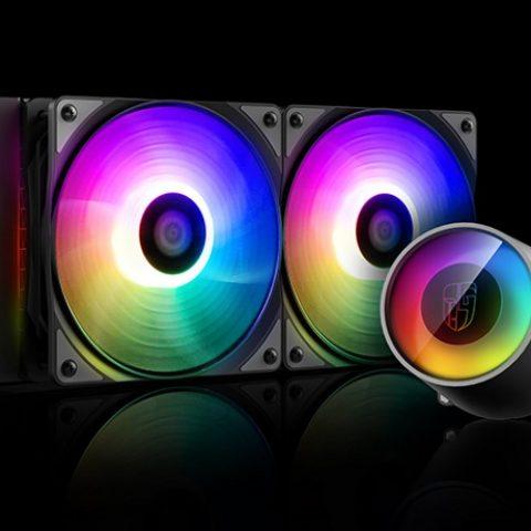 九州风神 堡垒 240 RGB V2 一体式CPU 水冷散热器 台式机电脑风扇幻彩
