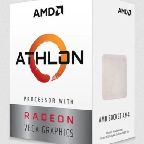 AMD Athlon 3000G Dual 核心 AM4 3.5GHz APU 处理器 CPU