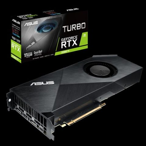 华硕 GeForce RTX 2080 Ti Turbo 11GB 游戏显卡