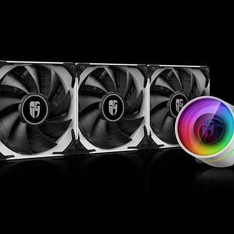 九州风神 九州风神 Castle 360EX 堡垒360ex 白色 White CPU Liquid Cooler 一体水冷散热器