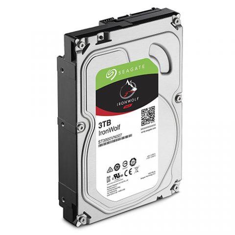 """希捷 Seagate 3TB 3.5"""" IronWolf NAS 5900RPM 机械硬盘"""