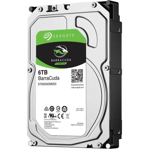 "希捷 Seagate 6TB 3.5"" Barracuda 5400RPM 机械硬盘"