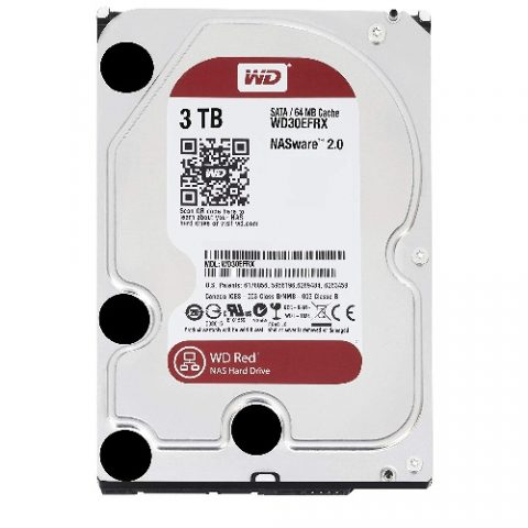 "WD Red 3TB NAS 3.5"" 5400RPM 机械硬盘"