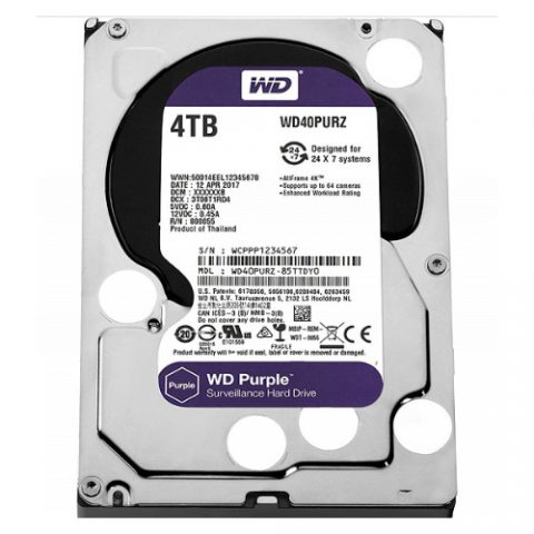 WD Purple 4TB Surveillance 5400RPM 机械硬盘