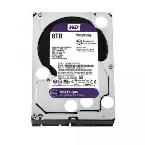 "WD Purple 6TB Surveillance 3.5"" 5400RPM 机械硬盘"