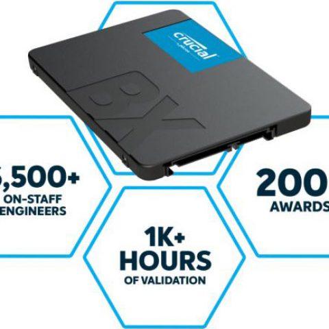 """镁光 Crucial BX500 480GB 2.5"""" SATA 固态硬盘 SSD"""