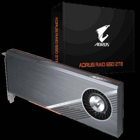 技嘉 Gigabyte Aorus RAID PCIe x4 NVMe SSD 2TB 固态硬盘 SSD