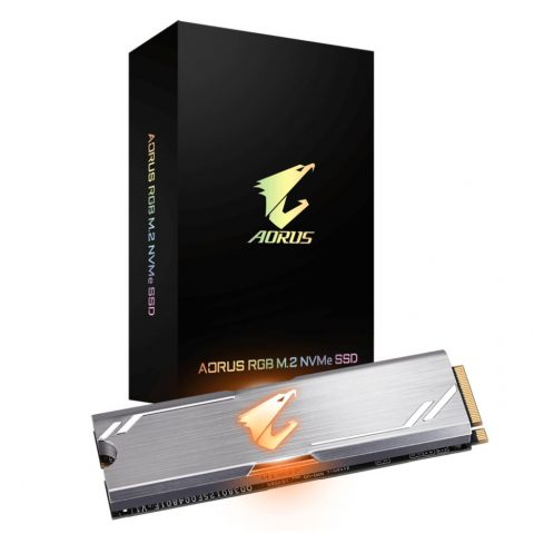 技嘉 Gigabyte Aorus RGB M.2 PCIe NVMe SSD 256GB 固态硬盘 SSD