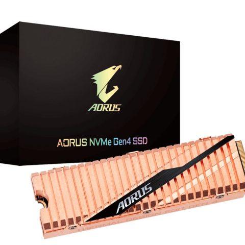 技嘉 Gigabyte Aorus M.2 PCIe NVMe Gen4 500GB 固态硬盘 SSD