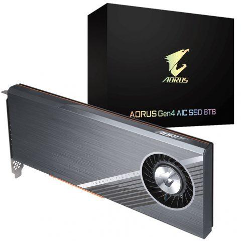 技嘉 Gigabyte Aorus Gen4 AIC PCIe4 NVMe SSD 8TB 固态硬盘 SSD