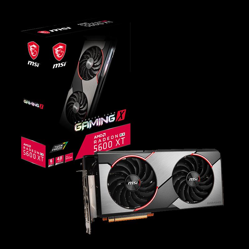 微星 AMD Radeon RX 5600 XT Gaming X 6GB 游戏显卡 设计显卡 渲染显卡