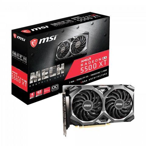 微星 AMD Radeon RX 5600 XT MECH OC 6GB 游戏显卡 设计显卡 渲染显卡