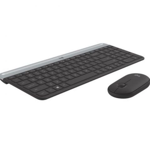 罗技 MK470 Slim Wireless Keyboard Mouse Combo 轻薄无线键鼠套装
