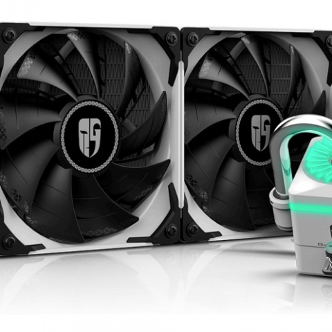 九州风神船长240EX RGB  九州风神 九州风神 Captain 240EX AIO Liquid CPU Cooler White 一体水冷散热器