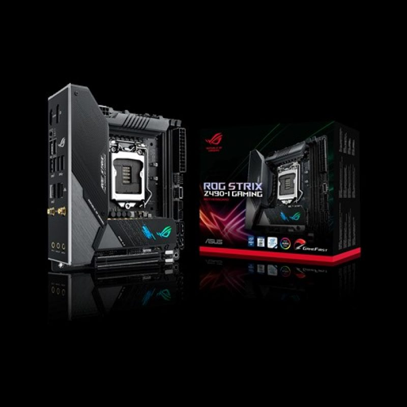 华硕 Asus 玩家国度 ROG 玩家国度 ROG STRIX Z490-I GAMING Mini-ITX Motherboard 主板 Z490 LGA1200 英特尔主板 Intel主板