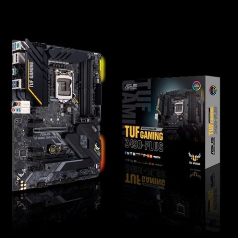 华硕 Asus TUF 电竞特工 GAMING Z490-PLUS ATX Motherboard 主板 Z490 LGA1200 英特尔主板 Intel主板