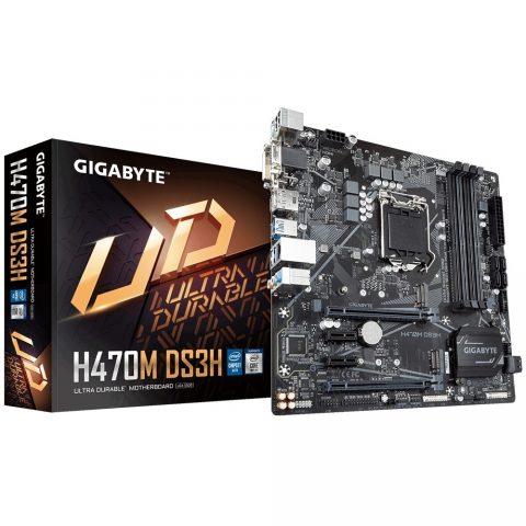 技嘉 Gigabyte H470M DS3H mATX Motherboard 主板 H470 LGA1200 英特尔主板 Intel主板