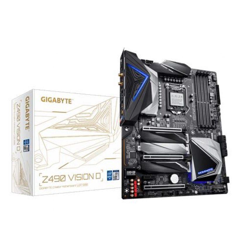 技嘉 Gigabyte Z490 VISION D ATX Motherboard 主板 Z490 LGA1200 英特尔主板 Intel主板