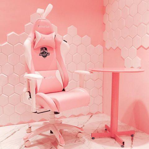 【预售团购】AutoFull傲风电竞椅 粉色雪兔椅 主播直播游戏家用 椅子