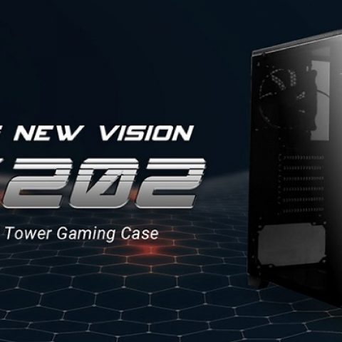 安钛克 Antec GX202 ATX, Side Window, 2x White LED,  Mesh Air Intake, Cable management. Black Gaming Case