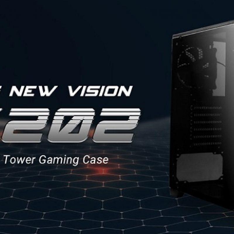安钛克 Antec GX202 ATX, Side Window, 2x White LED,  Mesh Air Intake, Cable management. Black Gaming Case