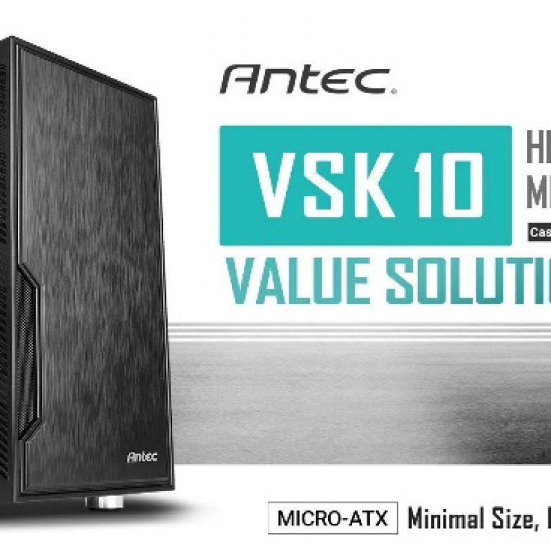 安钛克 Antec VSK10 mATX Case. 2x USB 3.0 Thermally Advanced Builder's Case. 1x 120mm Fan. Two Years Warranty