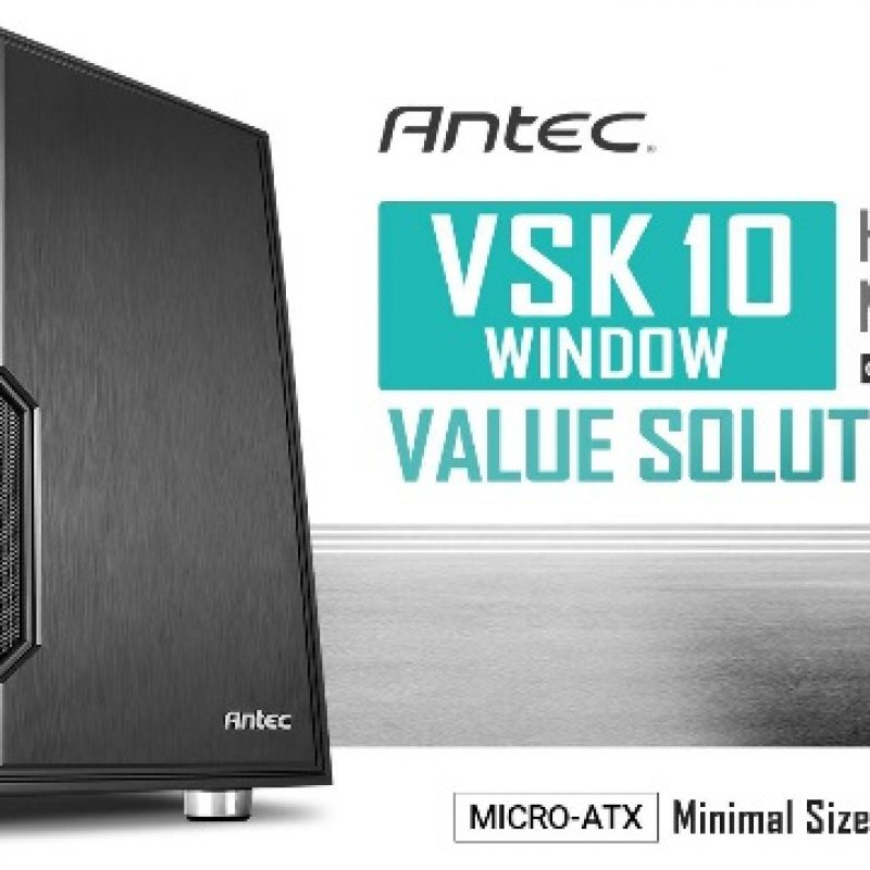 安钛克 Antec VSK10 Window mATX Case. 2x USB 3.0 Thermally Advanced Builder's Case. 1x 120mm Fan. Two Years Warranty