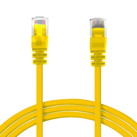 SPEED 0.25M RJ45 CAT6 PATCH CABLE YELLOW