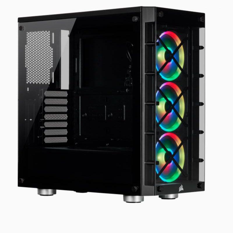 海盗船 iCUE 465X RGB ATX BLACK Mid-Tower Smart Case v2 机箱