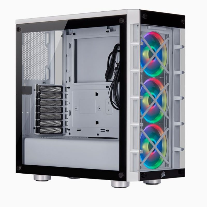 海盗船  iCUE 465X RGB ATX WHITE (LL120 RGB Fan) Mid-Tower Smart Case V2