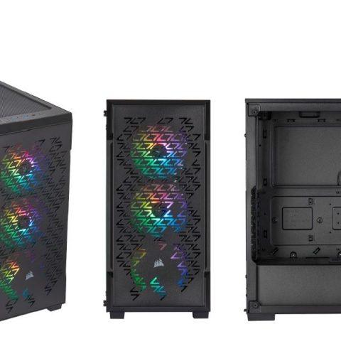 海盗船 iCUE 220T RGB Airflow Smart ATX, mATX, Mini-ITX Case - Black. 2 Years Warranty.