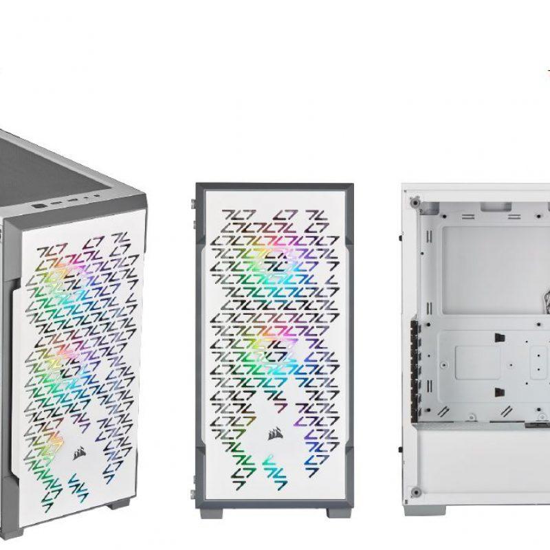 海盗船 iCUE 220T RGB Airflow Smart ATX, mATX, Mini-ITX Case - White. 2 Years Warranty