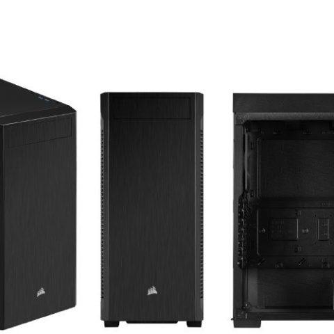 海盗船 110Q ATX Silent Sound Dampening, 1x 5.25' ODD, 2x 2.5' SSD, 2x 3.5' HDD. PSU 180mm. USB 3.0 x 2.  Case. 2 Years Warranty