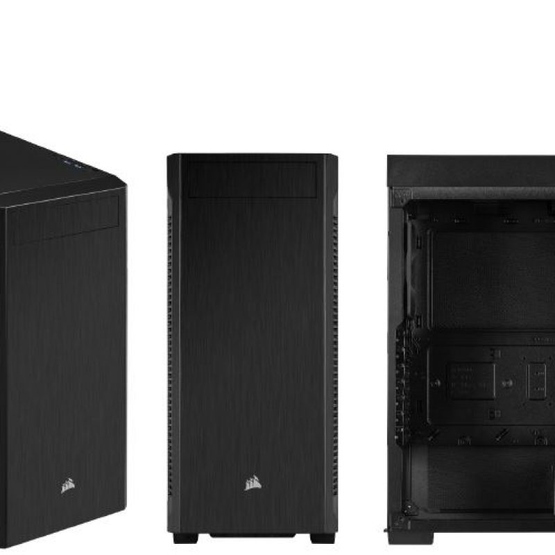 海盗船 110Q ATX Silent Sound Dampening, 1x 5.25' ODD, 2x 2.5' SSD, 2x 3.5' HDD. PSU 180mm. USB 3.0 x 2.  Case. 2 Years Warranty