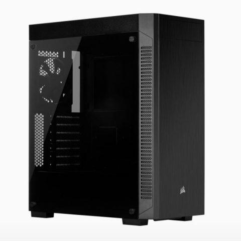 海盗船 110R Tempered Glass ATX, USB 3.1 Type-A, 5x 120mm or 3x 140mm Cooling, 5.25' x 1, 2.5' x 2. Combo 3.5'/2.5' Tray.Mid Tower  Gaming Case