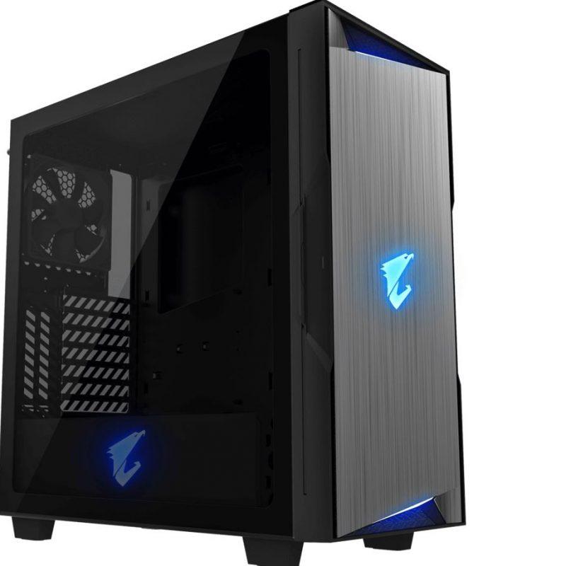 技嘉 Gigabyte AORUS AC300G Tempered Glass ATX Mid-Tower PC Gaming Case 2x3.5' 3x2.5' RGB Detachable Dust Filter Liquid Cooling Compatible PSU Shroud HDMI