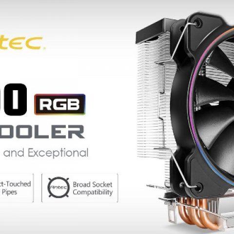 安钛克Antec  A400RGB CPU 散热器 台式机电脑 纯铜4热管 12cm 幻彩风扇