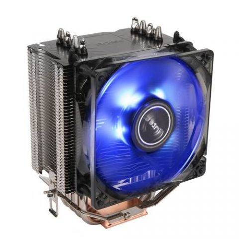 安钛克 Antec C40 Air CPU Cooler, 92mm PWM Blue LED Fan, Intel 775, 115X,1366. AMD: AM2(+), AM3, AM3+, AM4, FM1, FM2(+) 3 Years Warranty